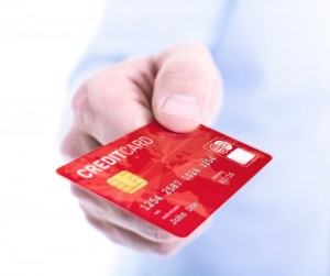 Handing out red credit card